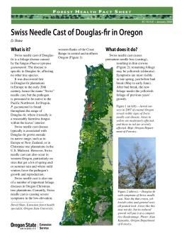 Image of Forest Health Fact Sheet: Swiss Needle Cast of Douglas-fir in Oregon publication