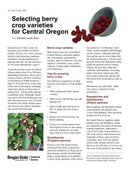 Image of Selecting Berry Crop Varieties for Central Oregon publication