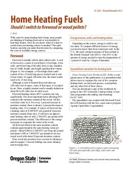 Image of Home Heating Fuels: Should I Switch to Firewood or Wood Pellets? publication