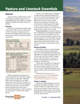 Image of Living on the Land: Pasture and Livestock Essentials publication