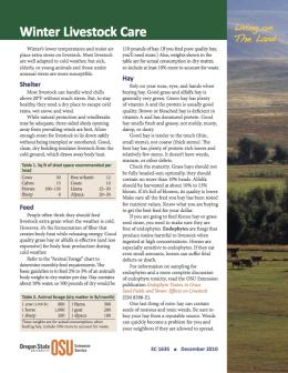 Image of Living on the Land: Winter Livestock Care publication