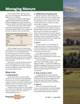 Image of Living on the Land: Managing Manure  publication