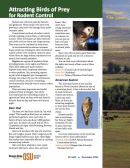Image of Living on the Land: Attracting Birds of Prey for Rodent Control publication