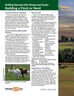"""Cover image for """"Living on The Land: Getting Started with Sheep and Goats—Building a Flock or Herd"""""""