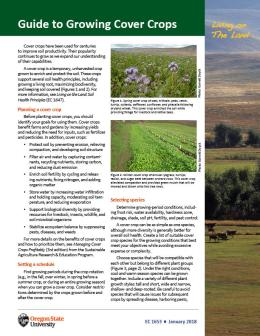 """Cover image of """"Living on the Land: Guide to Growing Cover Crops"""""""