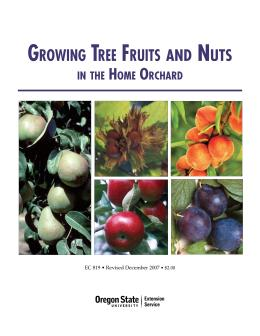 Image of Growing Tree Fruits and Nuts in the Home Orchard publication