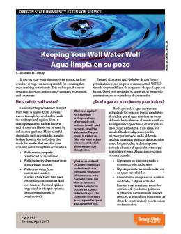 "Cover image of ""Keeping Your Well Water Well \ Agua limpia en su pozo"" publication"