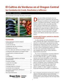 """Imagen de portada de la publicación """"El Cultivo de Verduras en el Oregon Central (los Condados de Crook, Deschutes y Jefferson)"""""""