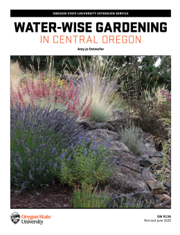 EM 9136 cover Water-wise gardening Central Oregon