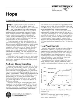 Image of Hops Fertilizer Guide publication