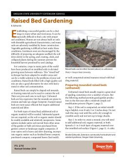 """The cover of """"Raised Bed Gardening"""" publication"""