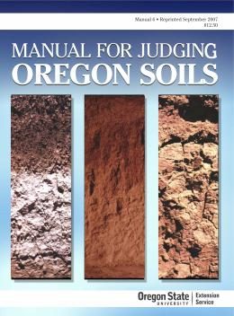 Image of Manual for Judging Oregon Soils publication
