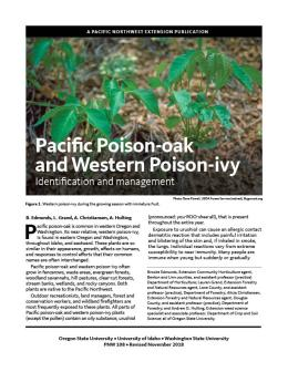 "Cover image of ""Pacific Poison-oak and Western Poison-ivy: Identification and Management"""