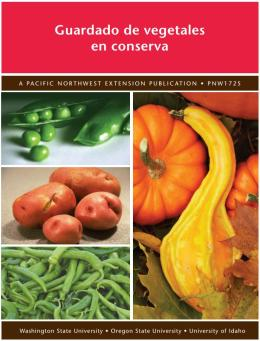 Cover for Spanish version of Canning Vegetables