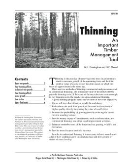 Image of Thinning: An Important Timber Management Tool publication