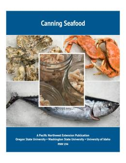 "Cover image of ""Canning Seafood"" publication"