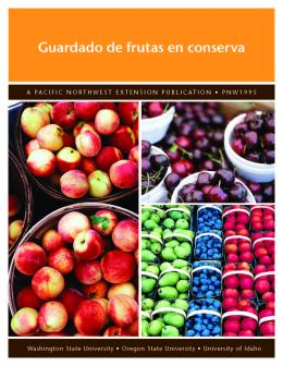 "Cover image of ""Guardado de frutas en conserva"" publication"