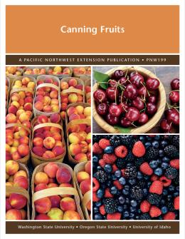 Publication cover for Canning Fruit