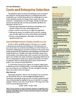 """Cover image of """"Farm-direct Marketing: Costs and Enterprise Selection"""""""