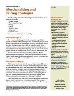 "Cover image of ""Farm-direct Marketing: Merchandising and Pricing Strategies"""