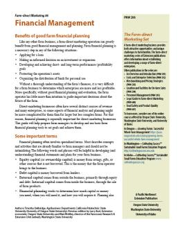 """Cover image of """"Farm-direct Marketing: Financial Management"""""""