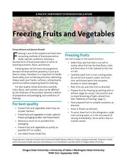 Image of Freezing Fruits and Vegetables publication