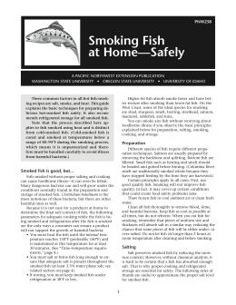 Image of Smoking Fish at Home Safely publication