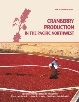 Image of Cranberry Production in the Pacific Northwest publication