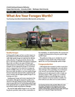 Image of What Are Your Forages Worth? publication