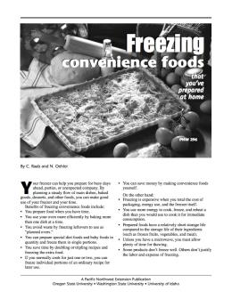 Image of Freezing Convenience Foods That You've Prepared at Home publication
