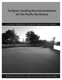 Image of Turfgrass Seeding Recommendations for the Pacific Northwest publication