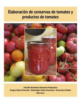 Cover image of Elaboración de conservas de tomates y productos de tomates