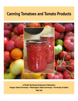 Cover image of Canning Tomatoes and Tomato Products