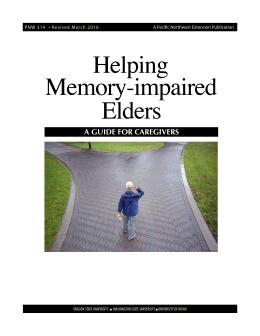 This is the cover for Helping Memory-Impaired Elders: A Guide for Caregivers