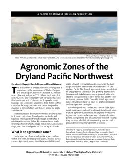 Cover image, Agronomic Zones of the Dryland Pacific Northwest
