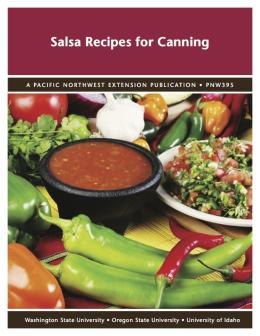 Image of Salsa Recipes for Canning publication
