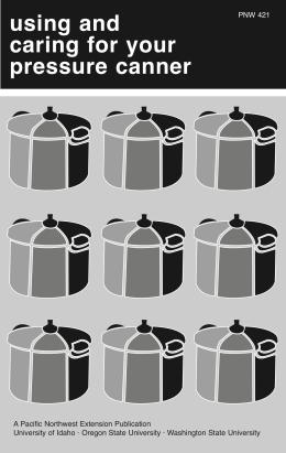 Image of Using and Caring for Your Pressure Canner publication