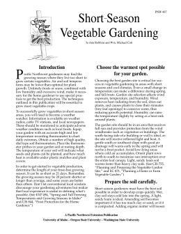 Image of Short-Season Vegetable Gardening publication