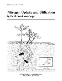 Image of Nitrogen Uptake and Utilization by Pacific Northwest Crops publication