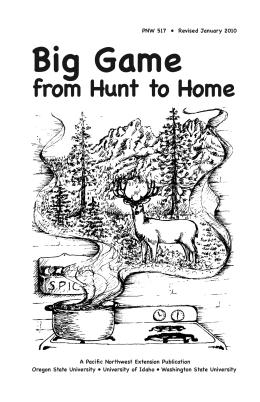 Image of Big Game from Hunt to Home publication