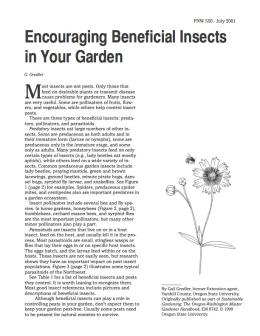 Image of Encouraging Beneficial Insects in Your Garden publication