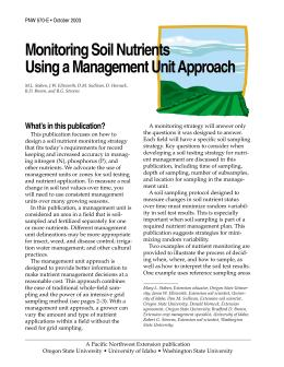 Image of Monitoring Soil Nutrients Using a Management Unit Approach publication