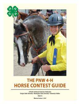 "Cover image of ""The PNW 4-H Contest Guide"""