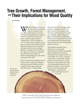 Image of Tree Growth, Forest Management, and Their Implications for Wood Quality publication