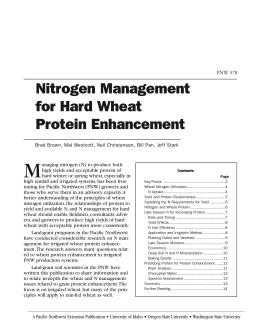 Image of Nitrogen Management for Hard Wheat Protein Enhancement publication