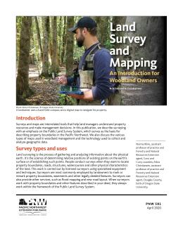 Cover for Land Survey and Mapping: An Introduction for Woodland Owners