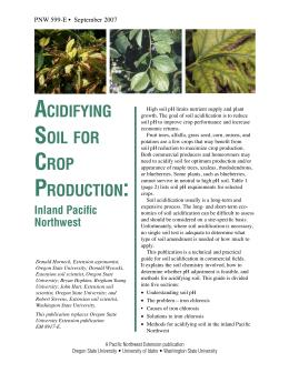 Image of Acidifying Soil for Crop Production: Inland Pacific Northwest publication