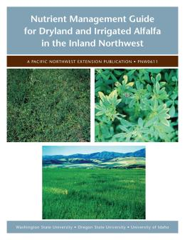 Image of Nutrient Management Guide for Dryland and Irrigated Alfalfa in the Inland Northwest publication