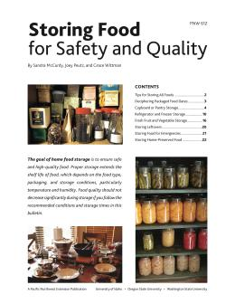 Image of Storing Food for Safety and Quality publication