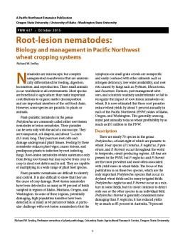 "Cover imager of ""Root-lesion nematodes: Biology and management in Pacific Northwest  wheat cropping systems"""